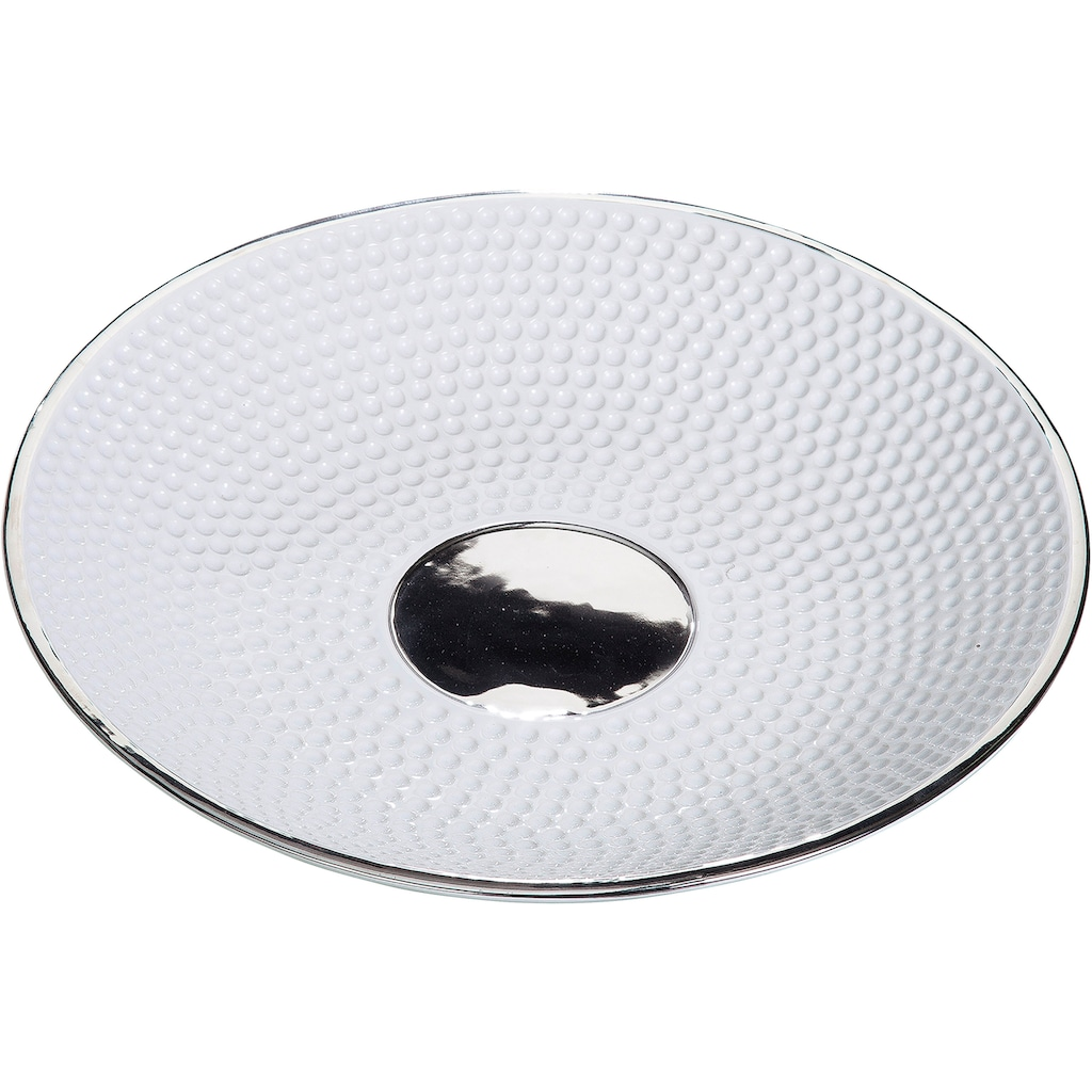 GILDE Dekoschale »Golfo«, aus Keramik, flach, rund, Ø 35,5 cm