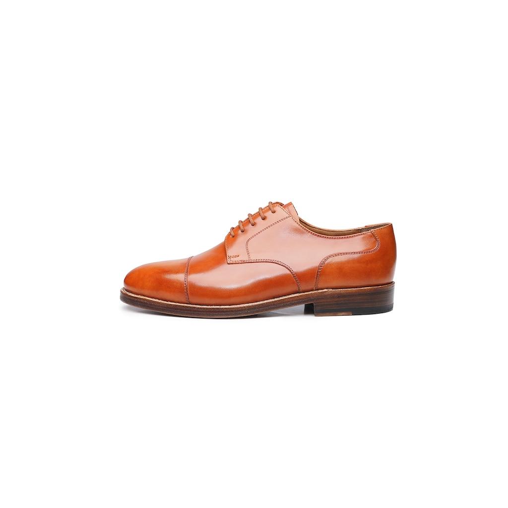 Heinrich Dinkelacker Schnürschuh »London Captoe TC«, Wahre Schuhmacherkunst aus Budapest