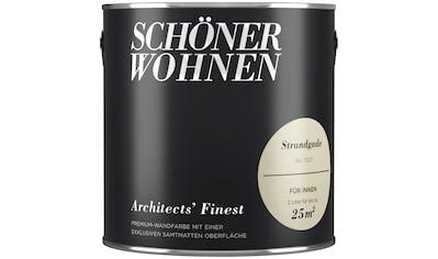SCHÖNER WOHNEN FARBE Wand -  und Deckenfarbe »Architects` Finest«, Strandgade, 2 l kaufen