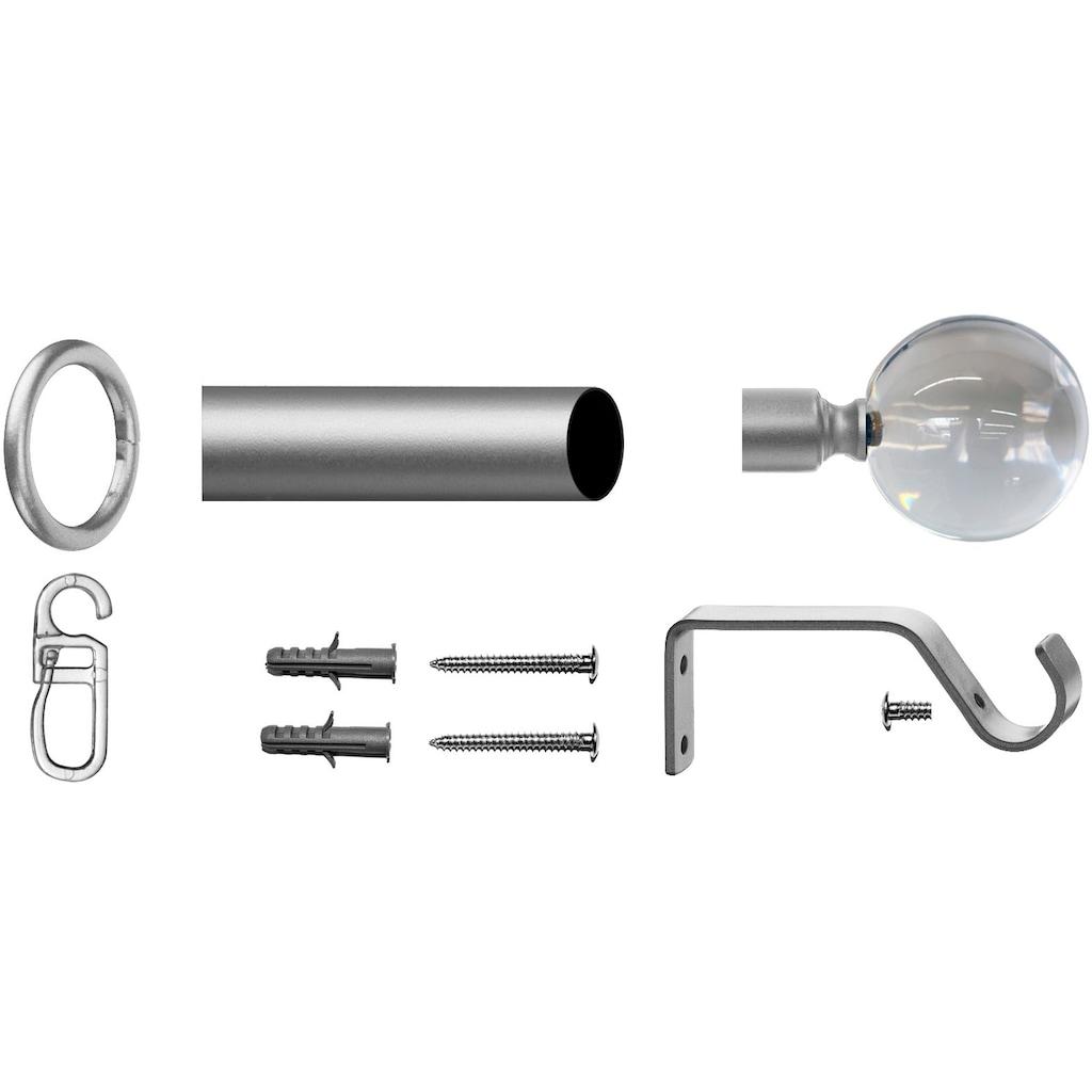 Gardinenstange, »Kugel Glas klar«, indeko, Fixmaß