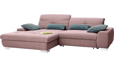 set one by Musterring Ecksofa »SO1200«, Recamiere links oder rechts bestellbar, wahlweise mit Bettfunktion kaufen