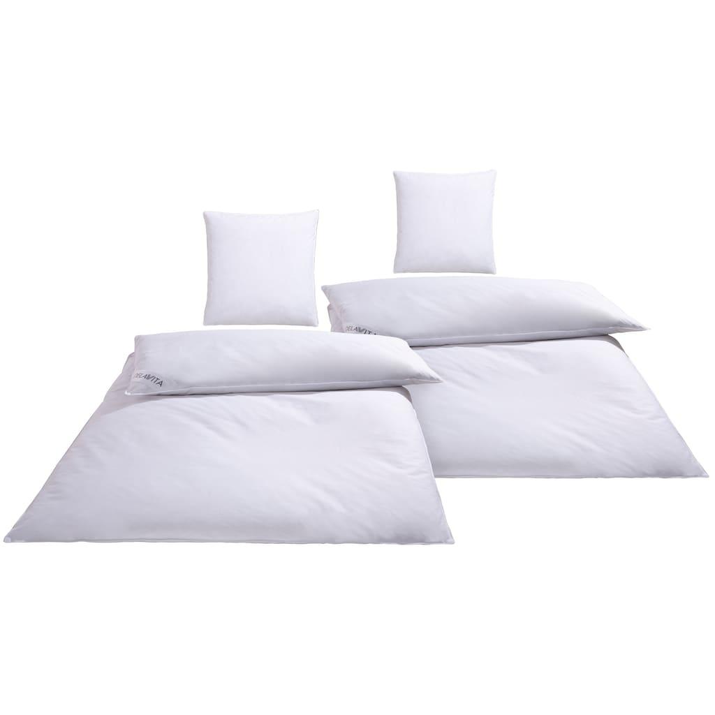 DELAVITA Daunenbettdecke + Kopfkissen »Hendrick«, (Spar-Set), Prall gefüllt, bauschig und einladend!