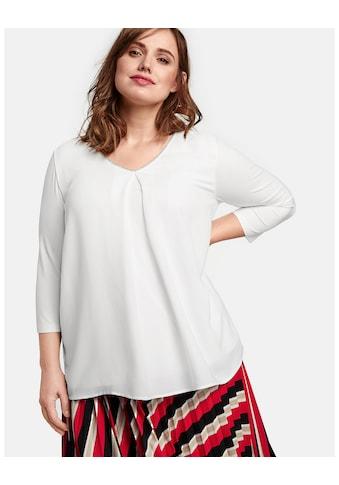 Samoon T - Shirt 3/4 Arm Rundhals »Blusenshirt mit Chiffon - Front« kaufen