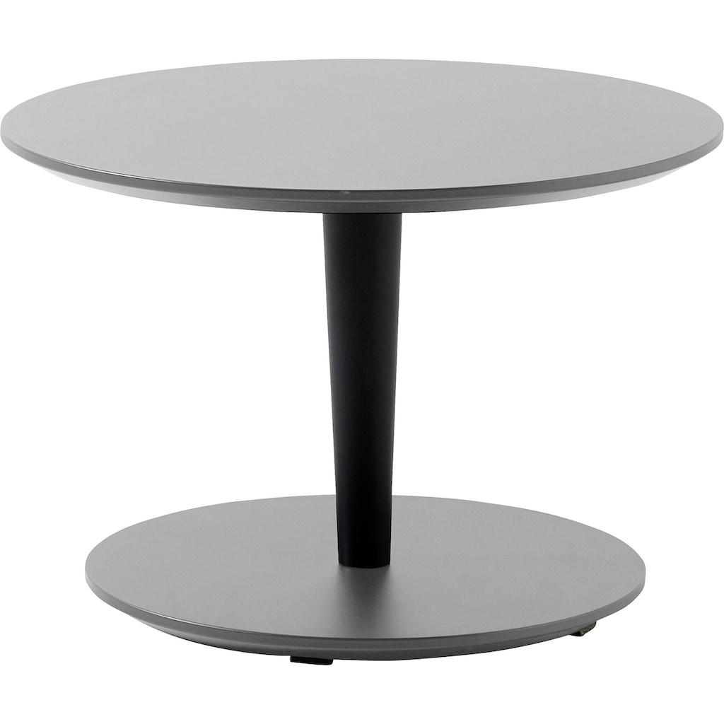 SCHÖNER WOHNEN-Kollektion Couchtisch »DIMARO«, in runder Form, Höhe 35 cm, Füße Holz Lack schwarz