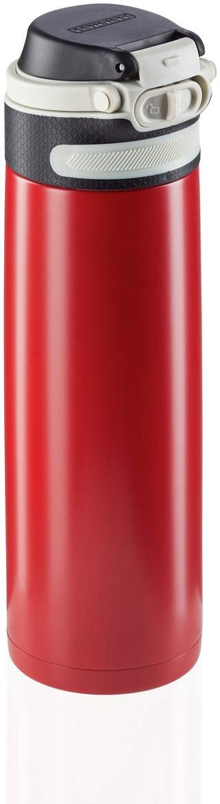 Leifheit Thermoflasche Flip, 600 ml rot Aufbewahrung Küchenhelfer Haushaltswaren