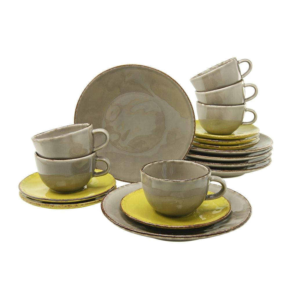CreaTable Kaffeeservice »ORGANIC«, (Set, 18 tlg.), Spülmaschinengeeignet