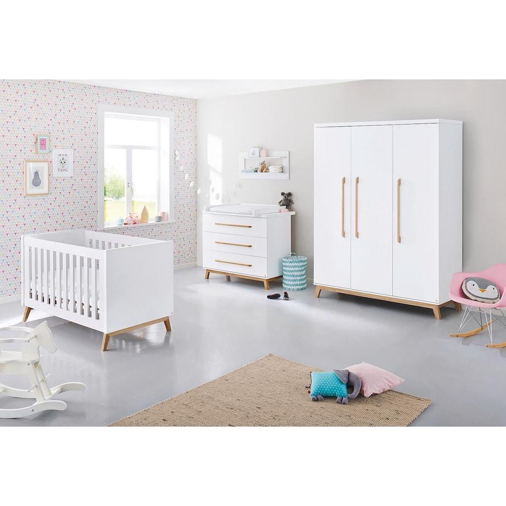 Pinolino® Babyzimmer-Komplettset »Riva«, (Set, 3 St.), breit groß; mit Kinderbett, Schrank und Wickelkommode