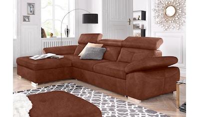 exxpo - sofa fashion Ecksofa, wahlweise mit Bettfunktion und Bettkasten kaufen