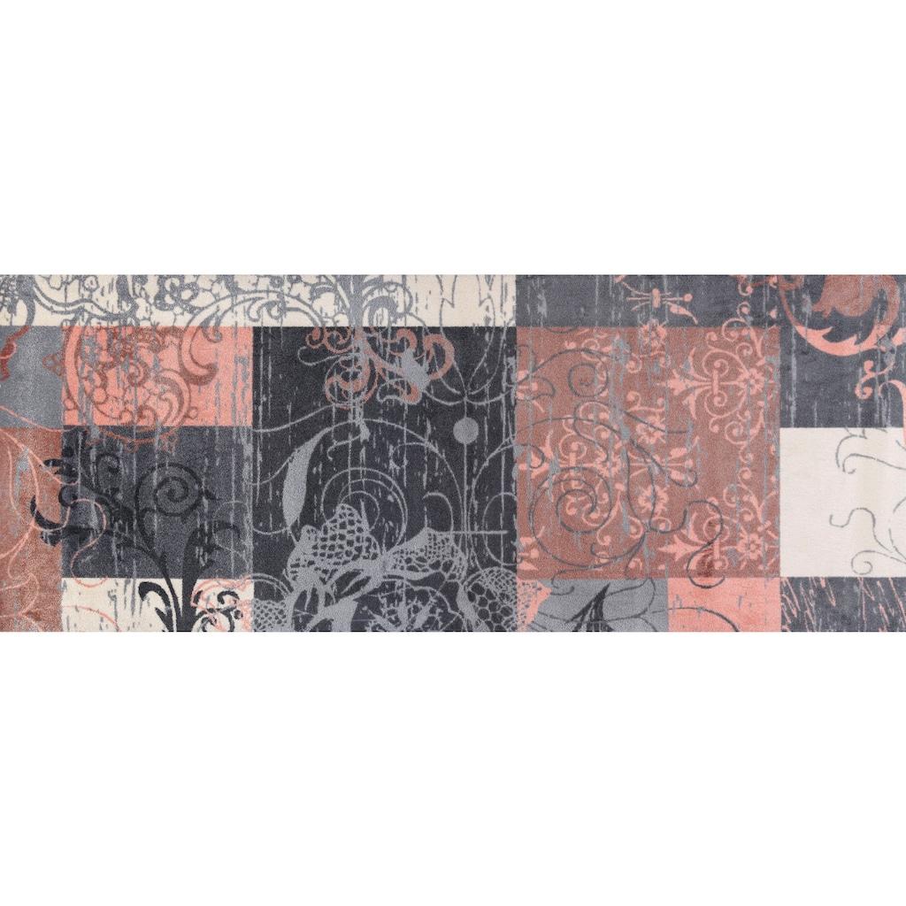 wash+dry by Kleen-Tex Läufer »Nostalgia rosé«, rechteckig, 9 mm Höhe, In- und Outdoor geeignet, waschbar