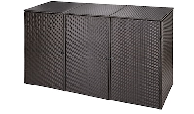 HANSE GARTENLAND Mülltonnenbox, für 3x240 l aus Polyrattan, BxTxH: 228x78x123 cm kaufen