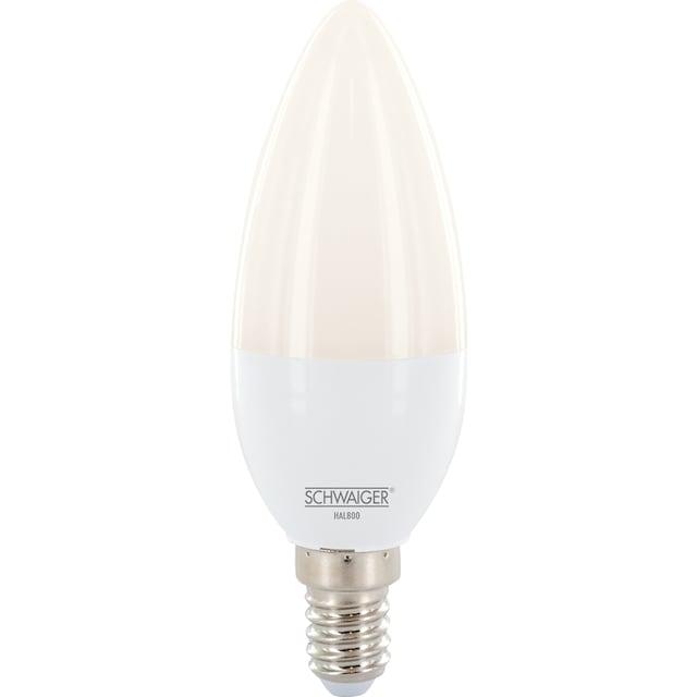 Schwaiger LED Lampe E14 dimmbar -smarte LED- Glühbirne RGBW »Multicolor Lichtsystem«