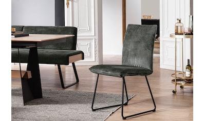 K+W Komfort & Wohnen Kufenstuhl »Deseo II«, Stuhl mit Rundrohrkufe in Metall schwarz... kaufen