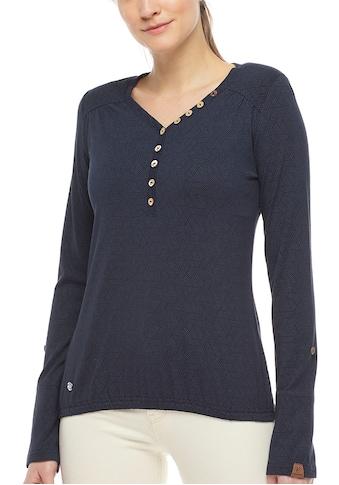 Ragwear Plus Langarmshirt »PINCH PLUS«, mit Knopfleiste in Holz-Optik kaufen