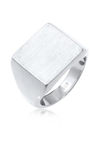Elli Fingerring »Siegelring Royal Matt Geo Quadrat Trend 925 Silber« kaufen