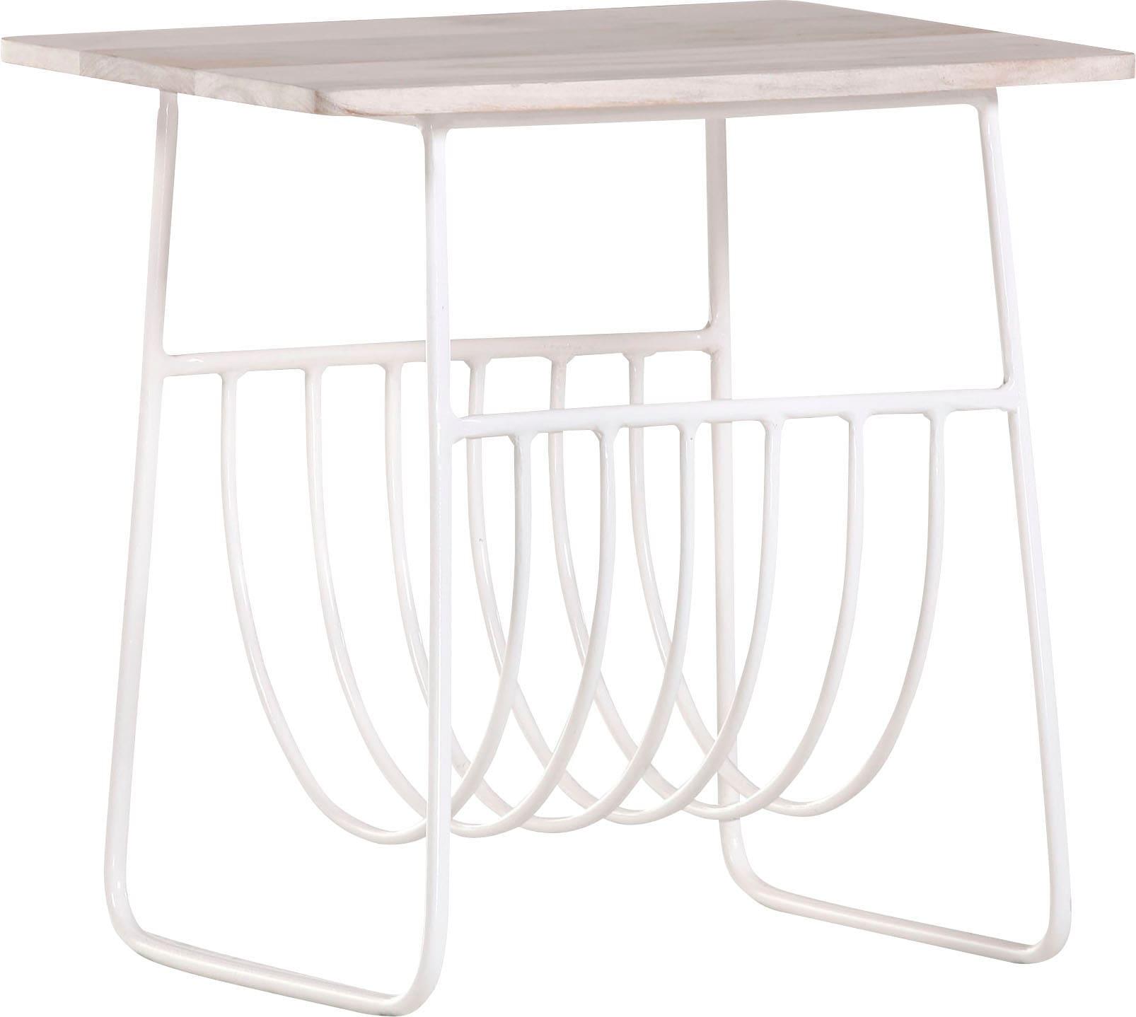 Gutmann Factory Beistelltisch Ivory weiß Beistelltische Tische