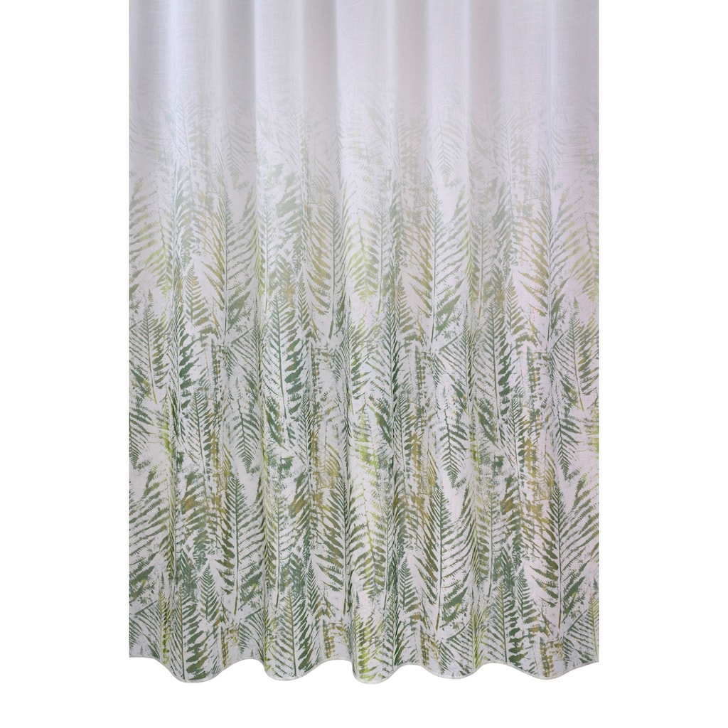 VHG Vorhang »Fern Leaf«, Deko Fixmaß,Verlauf,Digitaldruck