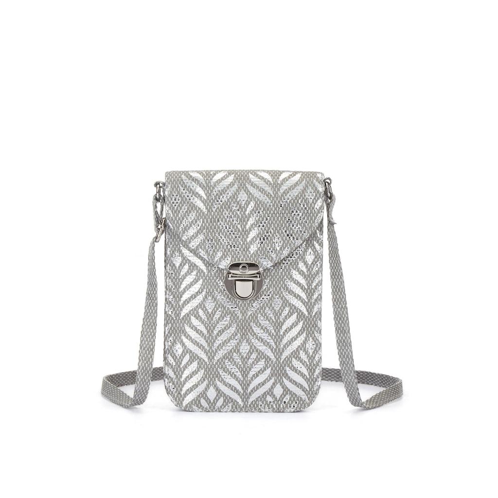 LASCANA Umhängetasche, Minibag, Handytasche zum Umhängen im Metallic und Bast Look