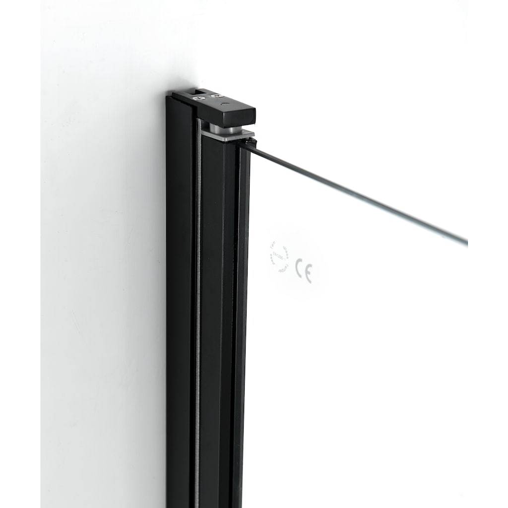 welltime Eckdusche »Florenz Black«, mit Hebe-Senk-Mechanismus, barrierefrei einbaubar, höhenverstellbar