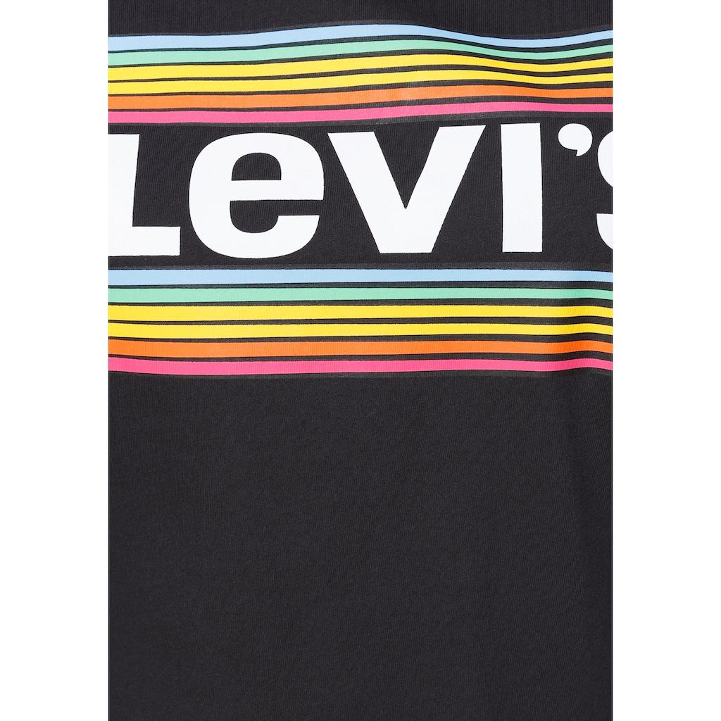 Levi's® Plus Rundhalsshirt »The perfect Tee«, mit Regenbogen-Batwing-Logodruck