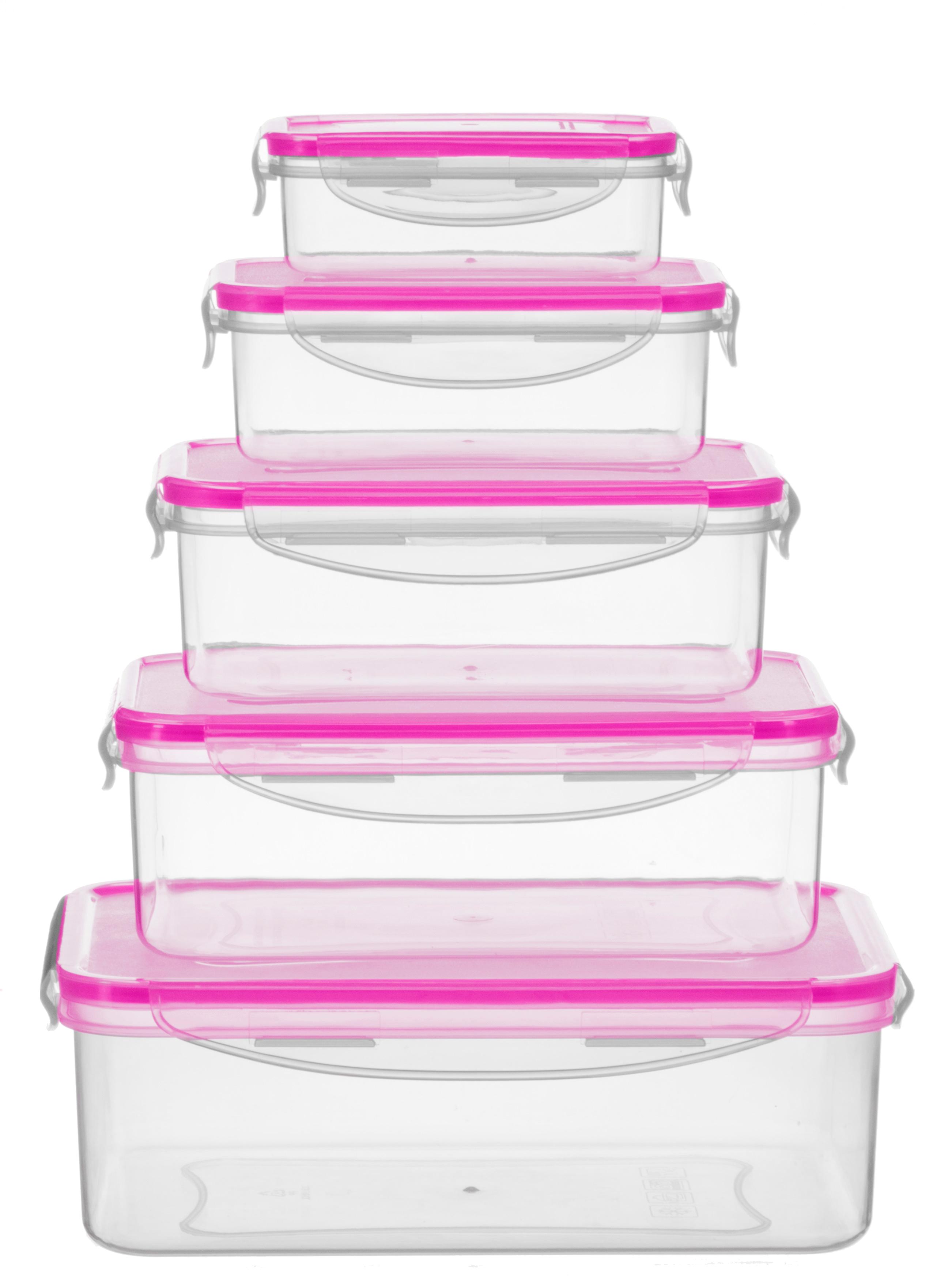 KING Aufbewahrungsbox BERRY, (Set, 10 tlg.), luftdichtem Klappverschluss, ineinander stapelbar farblos Aufbewahrung Küchenhelfer Haushaltswaren
