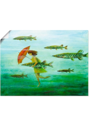 Artland Wandbild »Es zieht wie Hechtsuppe«, Wassertiere, (1 St.), in vielen Größen &... kaufen