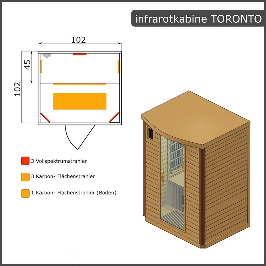 Dewello Infrarotkabine »Toronto«, für 1 Person