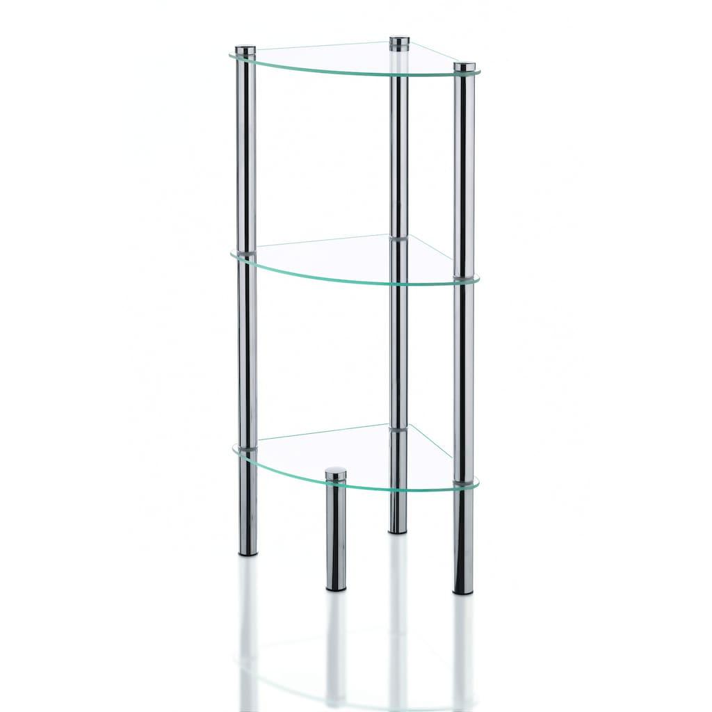 kela Badregal »Ole«, Badezimmer Eckregal mit 3 oder 4 Glasablagen
