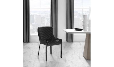 Places of Style Esszimmerstuhl »Medford«, 2er-Set, Sitz und Rücken gepolstert, modernes Design kaufen