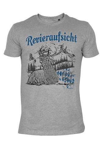 Der Trachtler T - Shirt mit Hirschmotiv »Revieraufsicht« kaufen