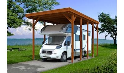Skanholz Einzelcarport »Friesland«, Holz, 355 cm, braun, für Caravan kaufen