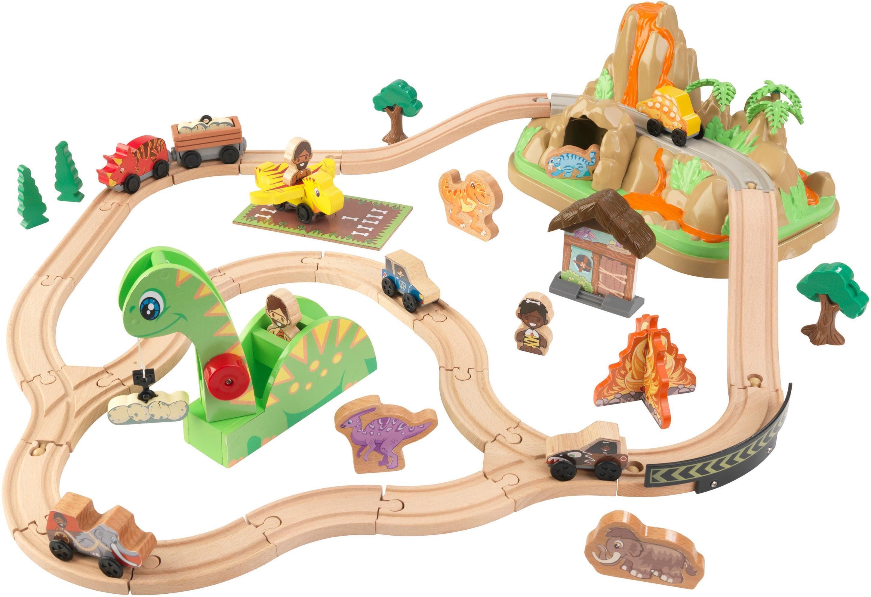 KidKraft Spielzeug-Eisenbahn Dinosuarier Eisenbahn-Set bunt Kinder Ab 3-5 Jahren Altersempfehlung