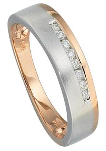 JOBO Diamantring, 585 Gold bicolor mit 8 Diamanten kaufen