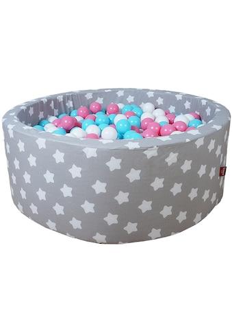 Knorrtoys® Bällebad »Soft, Grey white stars«, mit 300 Bällen rose/creme/lightblue;... kaufen