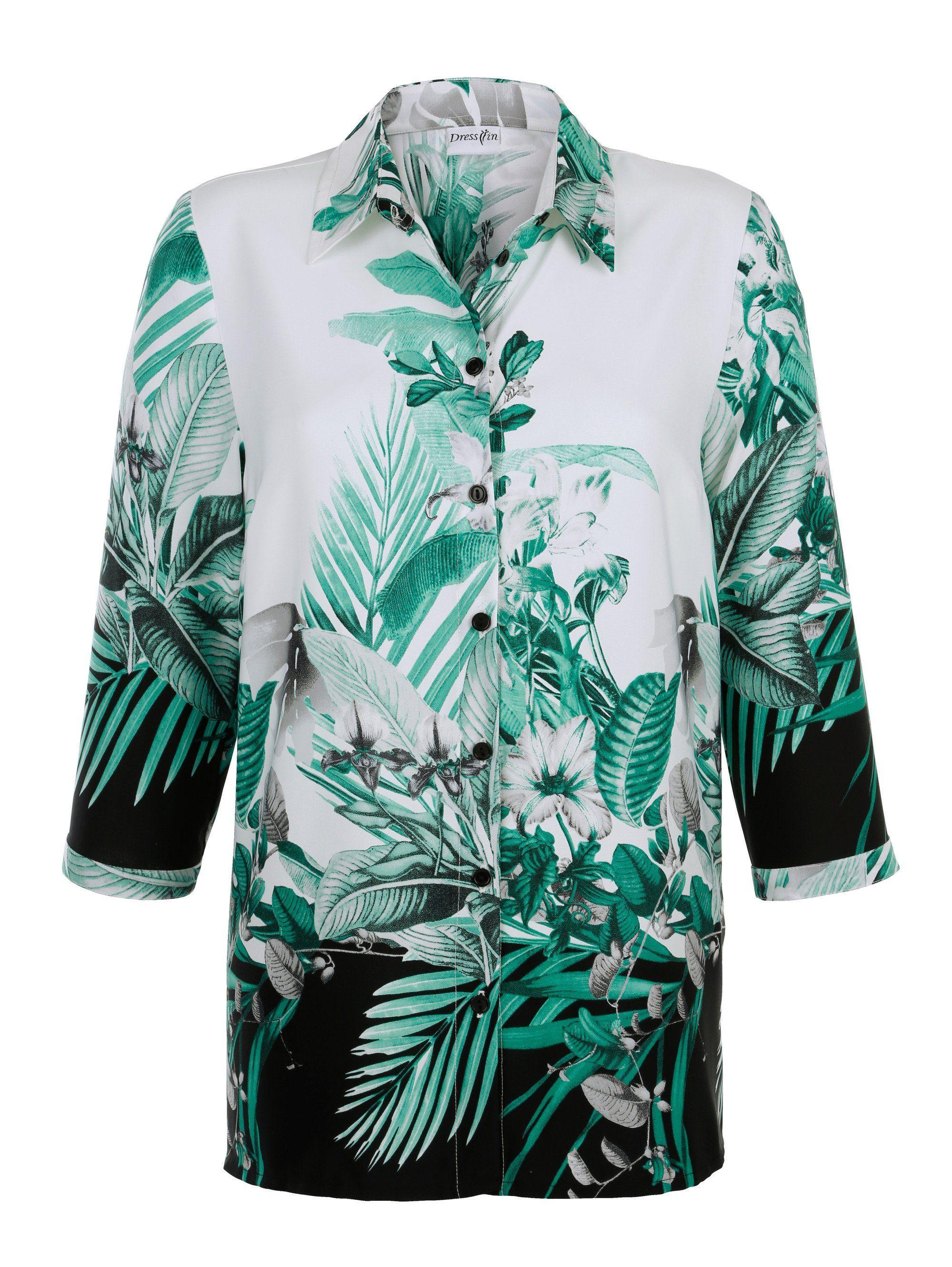 Dress In Bluse mit platziertem Druck