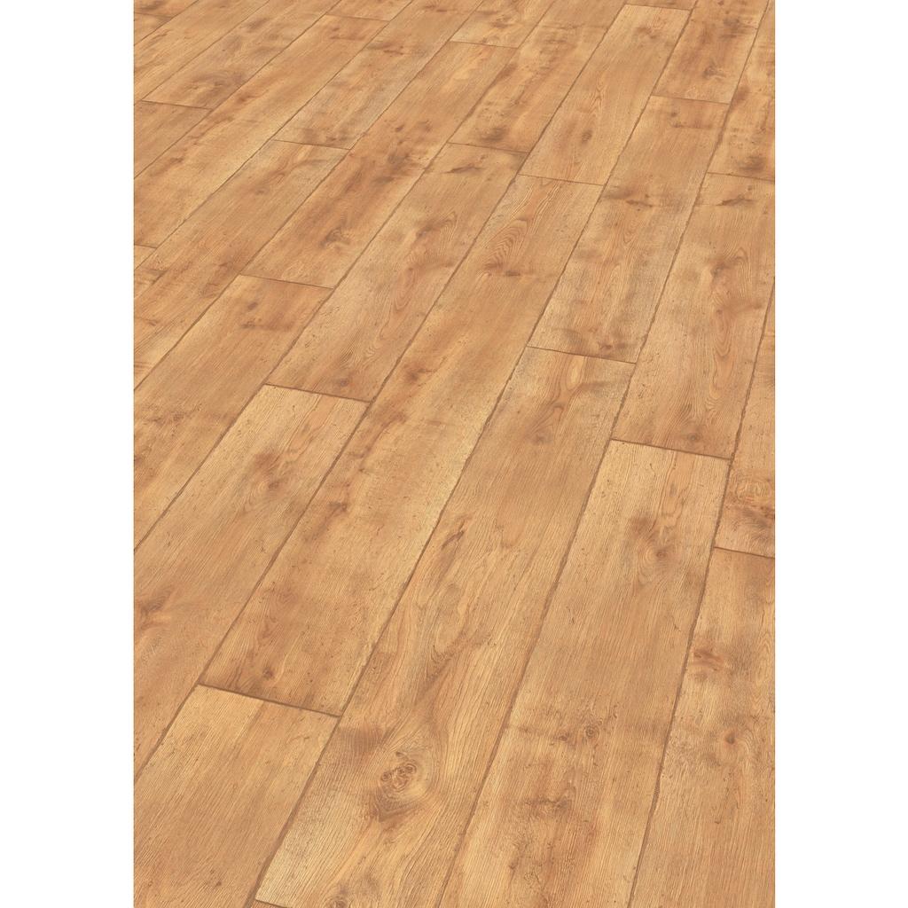 EGGER Laminat »HOME Vinstra Eiche honig«, 2,481 m²/Pkt., Stärke: 7 mm