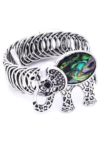 J.Jayz Armspange »mit antikem Elefant und Muscheloptik« kaufen