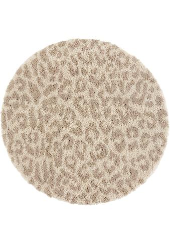 my home Hochflor-Teppich »Gemma«, rund, 35 mm Höhe, weicher Flor, Leopard, Wohnzimmer kaufen