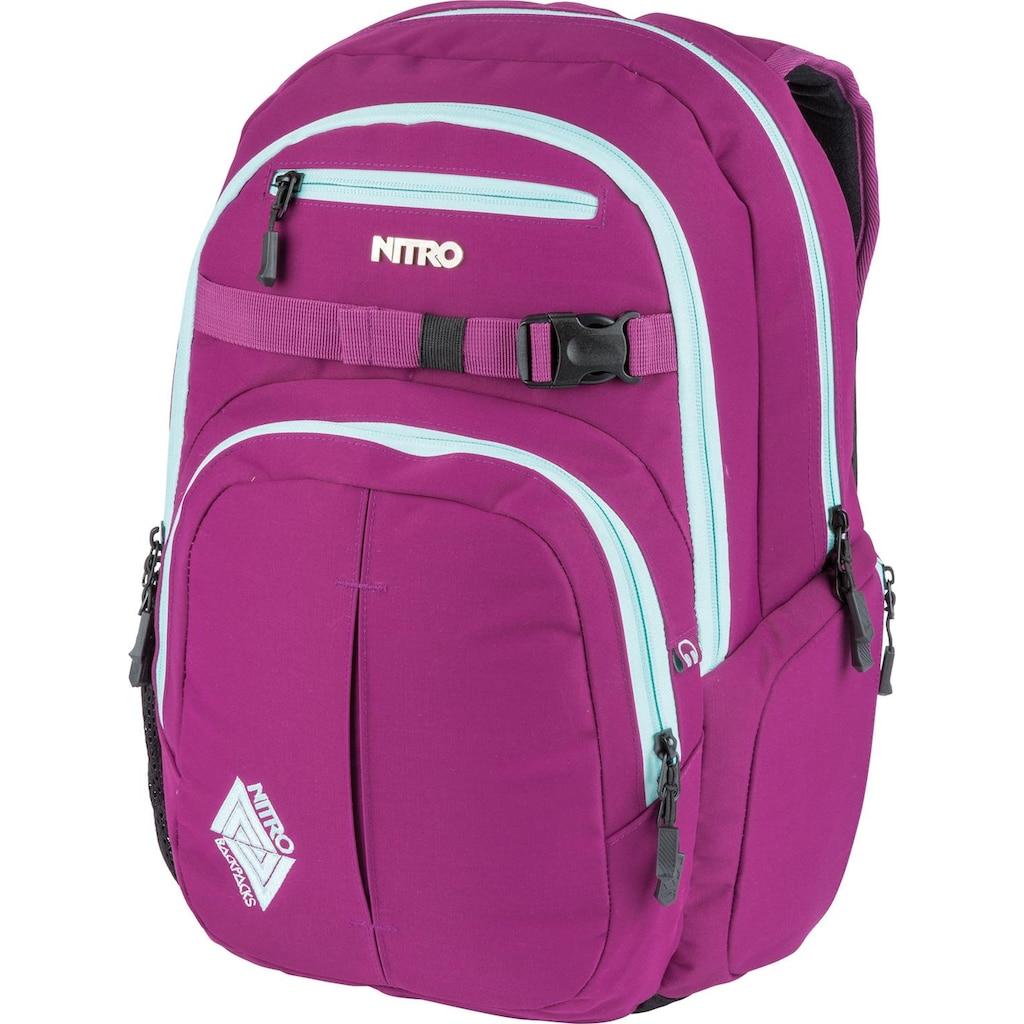 NITRO Schulrucksack »Chase, Grateful Pink«