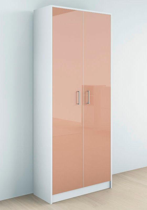 Borchardt Möbel Garderobenschrank Finn mit 2 Türen und Hochglanz Fronten | Flur & Diele > Garderoben > Garderobenschränke | Hochglanz - Melamin | Borchardt Möbel