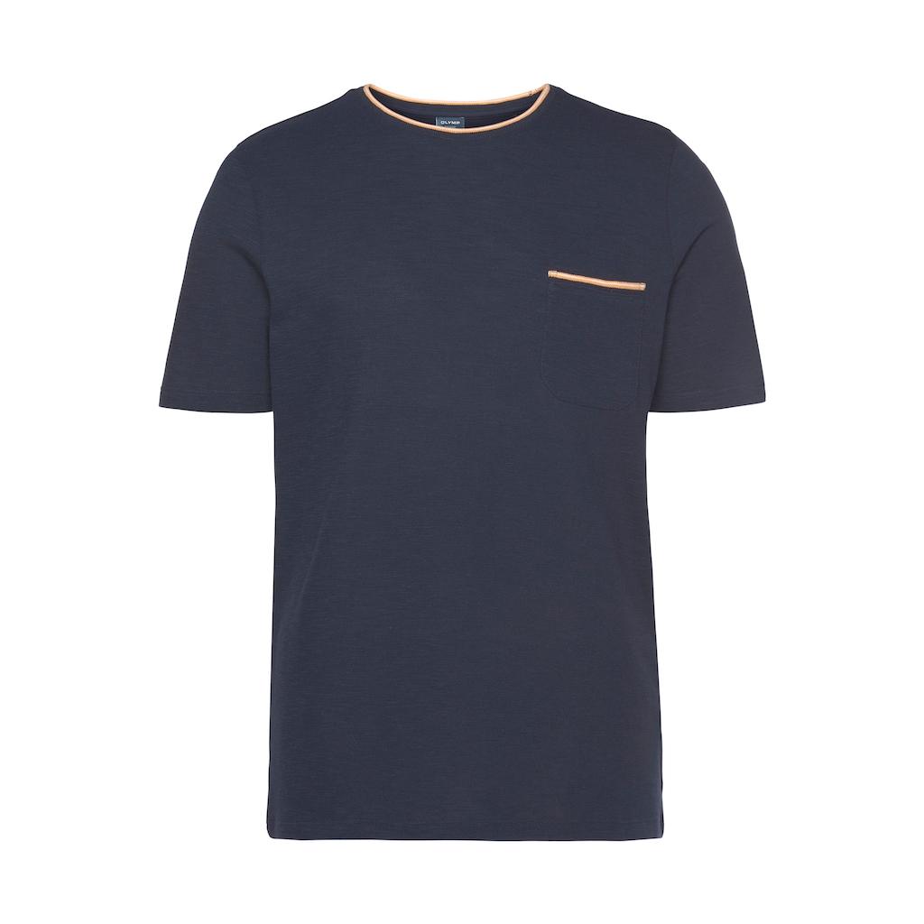 OLYMP T-Shirt »Luxor Modern fit«, Strukturmuster