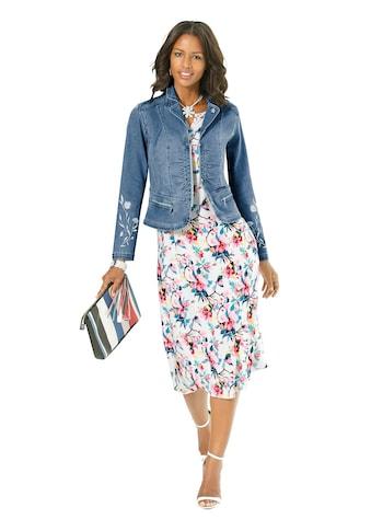 Alessa W. Jeansblazer mit femininer Blüten - Stickerei kaufen