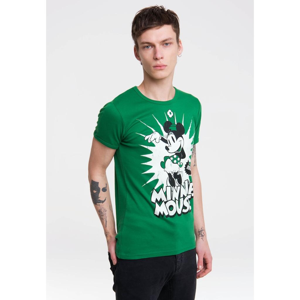 LOGOSHIRT T-Shirt »Minnie Mouse«, mit niedlichem Print