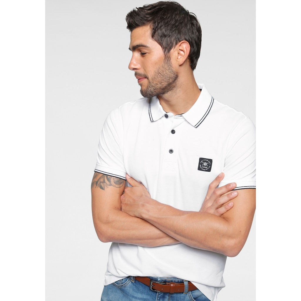 TOM TAILOR Polo Team Poloshirt, mit Markenlabel