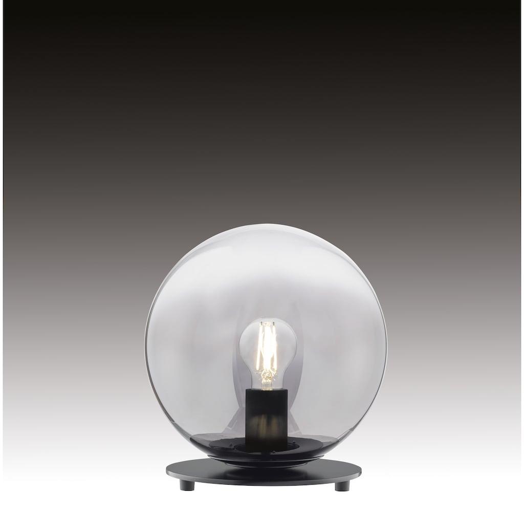 SCHÖNER WOHNEN-Kollektion Tischleuchte »Mirror«, E27, 1 St., Tischlampe Rauchglas Ø 25 cm