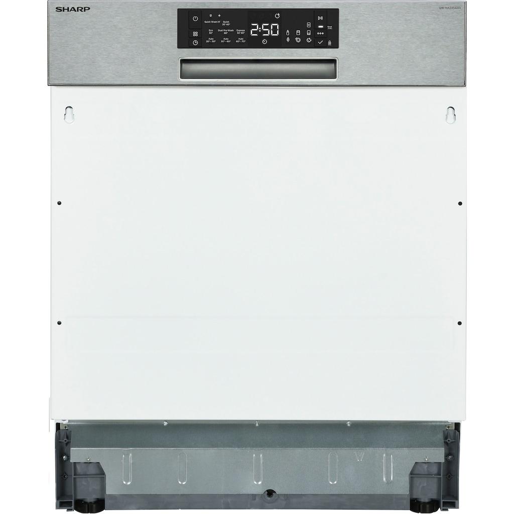 Sharp teilintegrierbarer Geschirrspüler, QW-NA24S42DI-DE, 15 Maßgedecke