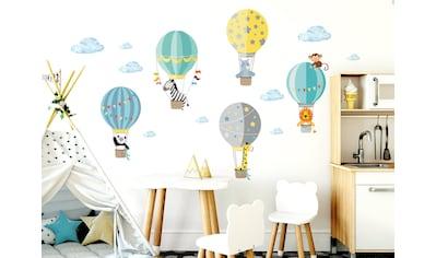 little DECO Wandtattoo »Little Deco Wandtattoo Zoo-Tiere im Heißluftballon« kaufen