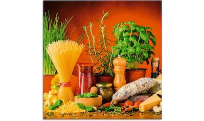 Artland Glasbild »Mediterranes und italienisches Essen« kaufen