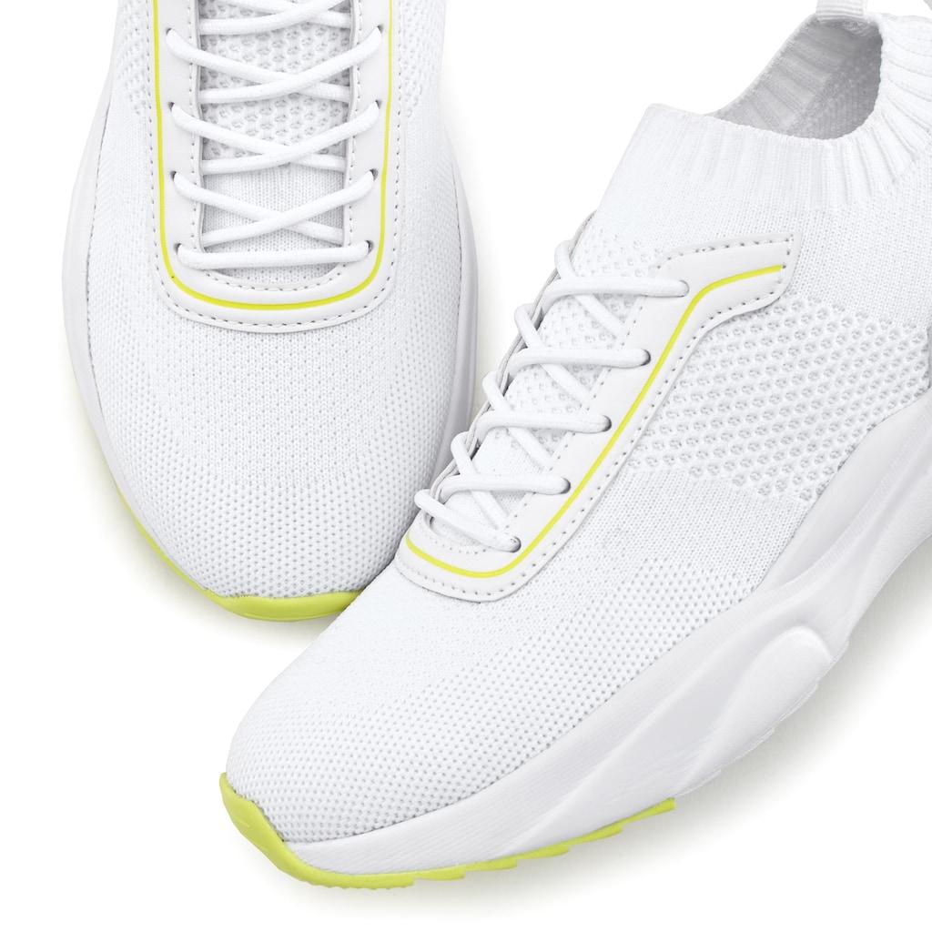 LASCANA Sneaker, bequem zum Reinschlüpfen aus ultraleichtem Mesh-Material