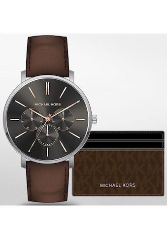 MICHAEL KORS Quarzuhr »BLAKE, MK8843« (Set, 2 tlg., mit Kartenhalter) kaufen