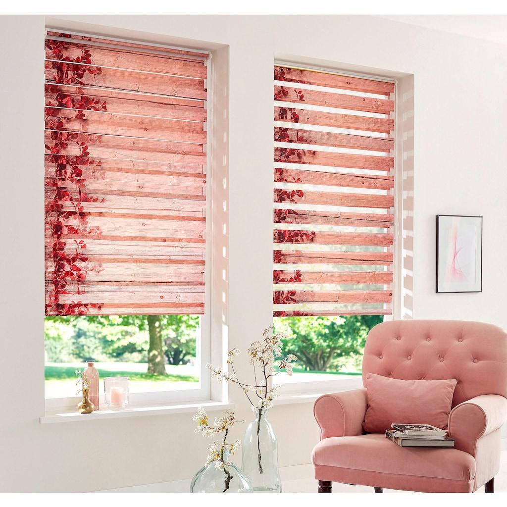 Home affaire Doppelrollo »Print D&n Blind«, Lichtschutz, ohne Bohren, freihängend, im Fixmaß
